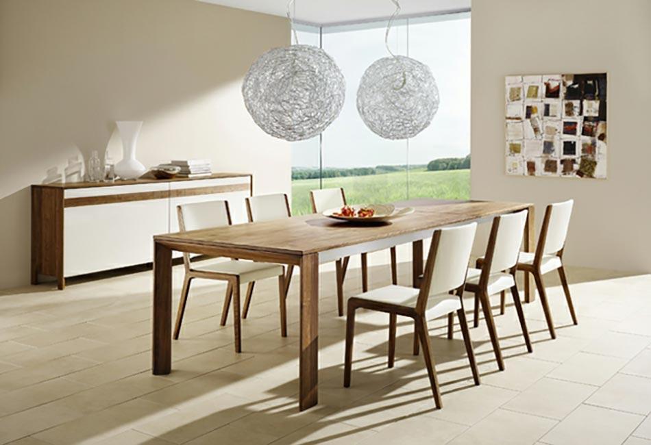 salle manger moderne aux chaises design uniques design feria. Black Bedroom Furniture Sets. Home Design Ideas