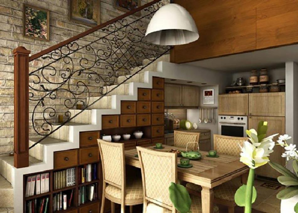 Cuisine design sous l escalier voir design feria for Voir cuisine amenagee