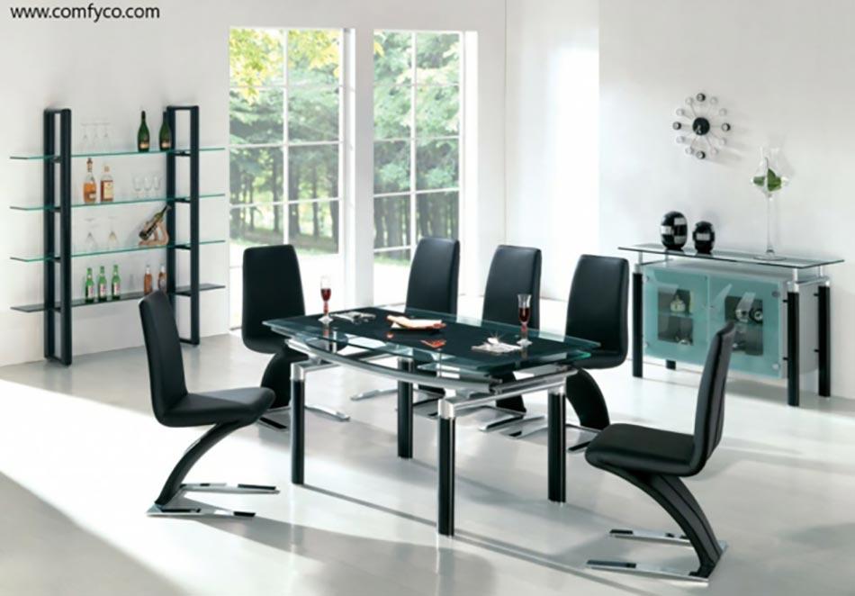 Salle manger moderne aux chaises design uniques design for Voir salle a manger moderne
