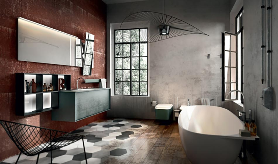 Am nagement salle de bain sign edon design design feria for Salle de bain style loft