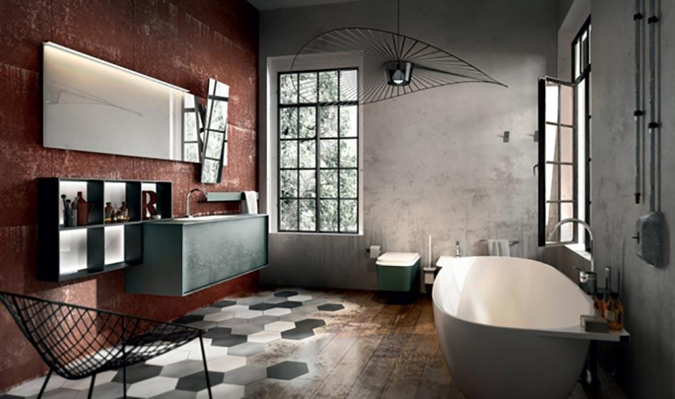 Am nagement salle de bain sign edon design design feria - Salle de bain loft industriel ...