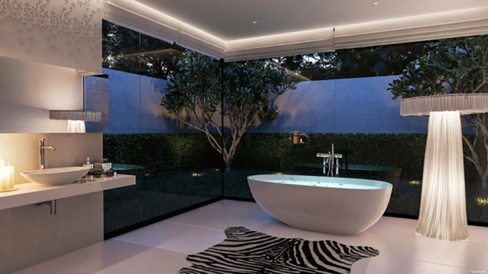 Salle de bain de luxe au design modern et chic design feria for 2015 home designs