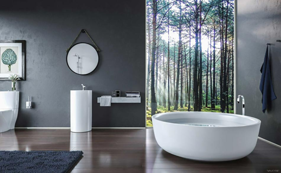 Salle de bain de luxe au design modern et chic design feria for Photo salle de bain design