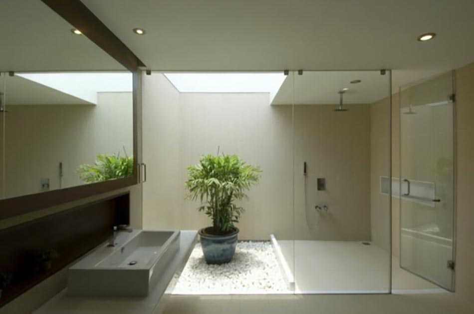 Une d co zen pour une salle de bains minimaliste design feria Simple bathroom design indian