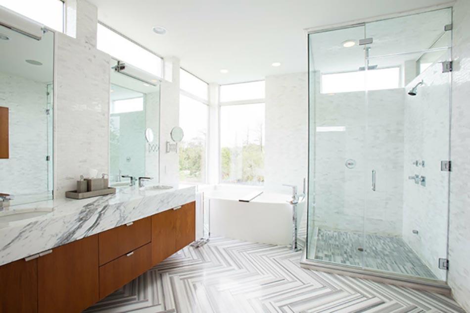 Salle de bain en marbre qui nous fait r ver design feria for Vasque marbre salle de bain