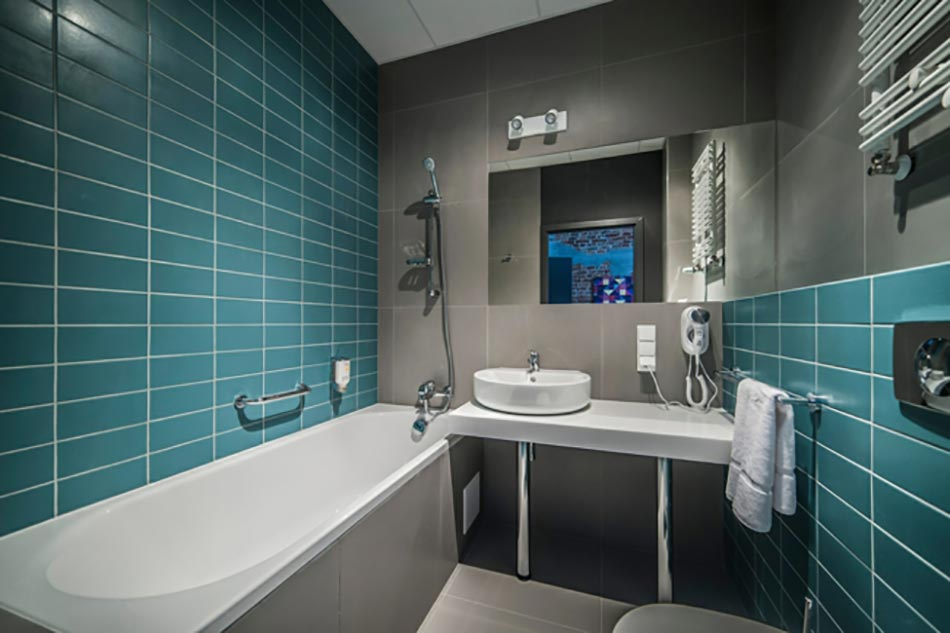 Merveilleux Salle De Bain En Turquoise