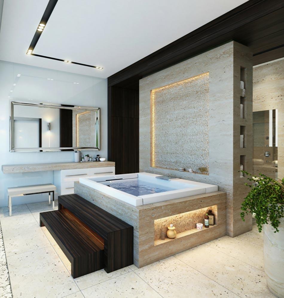 Salle de bain de luxe chic et originale | Design Feria