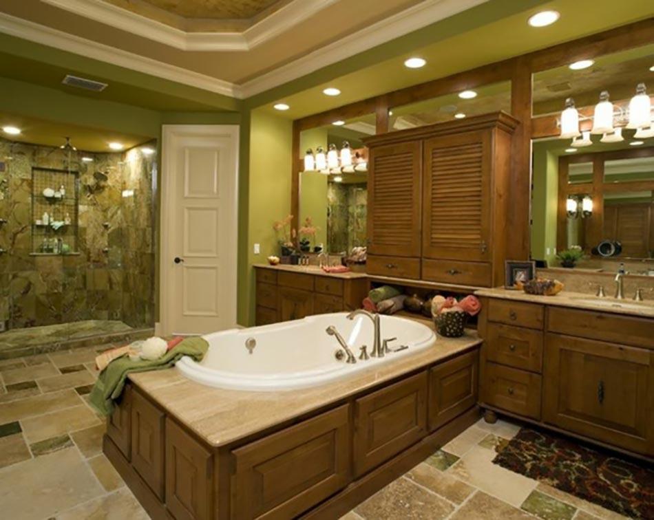 Déco reposante et tendance en vert pour la salle de bain ...