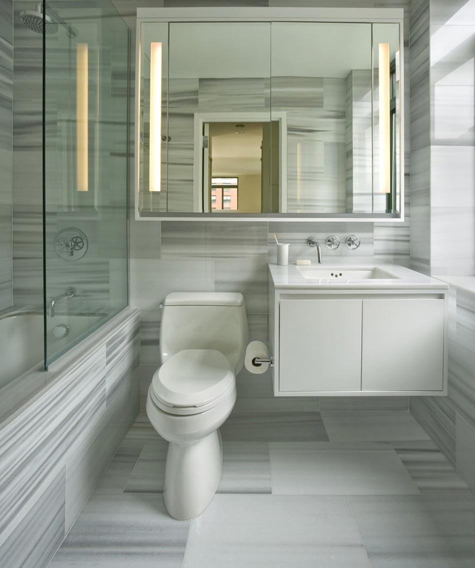 Salle de bain marbre blanc pour afficher une classe ...