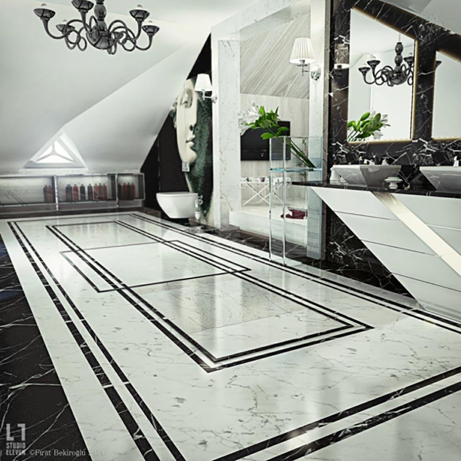 Salle De Bain Couloir Wc ~ Salle De Bain De Luxe Au Design Modern Et Chic Design Feria