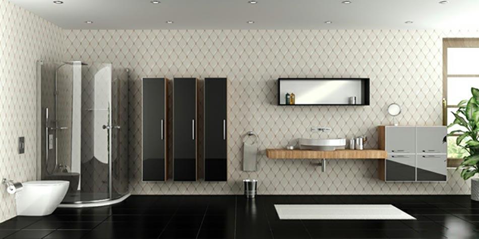ambiance de style pour cette salle de bain moderne - Grande Salle De Bain Contemporaine