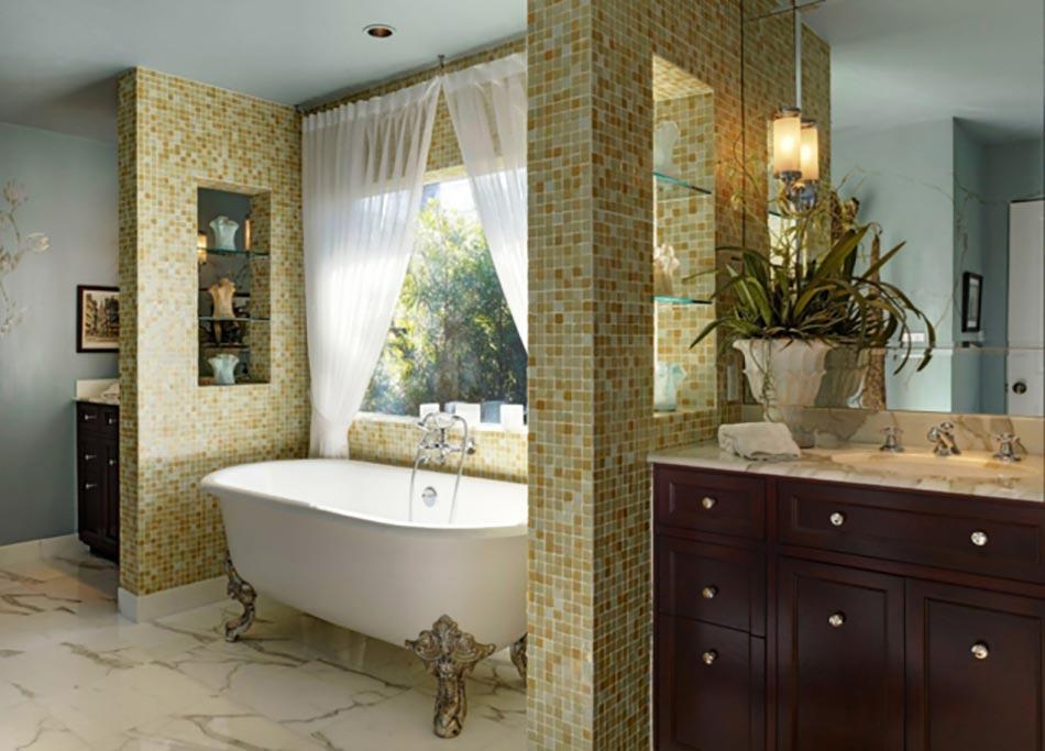 dcor chic dans une salle de bains retro - Salle De Bain Vintage Design