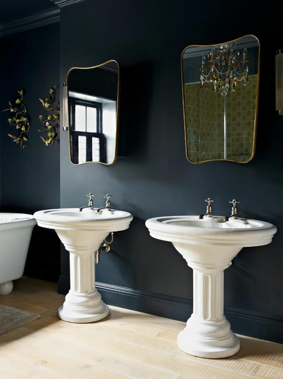 Peindre les murs int rieurs dans des couleurs sombres for Quelle couleur pour salle de bain sombre