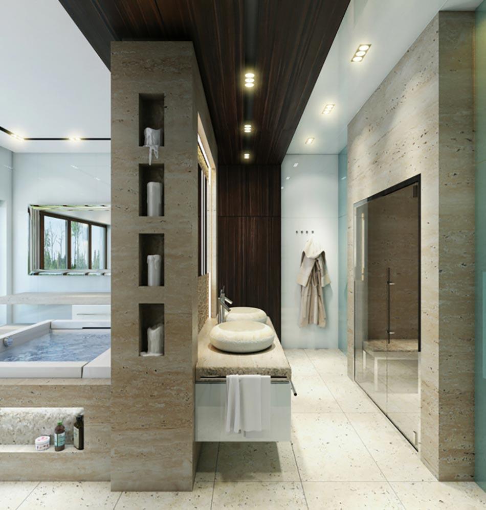 Salle de bain de luxe chic et originale design feria for Salle de bain design luxe