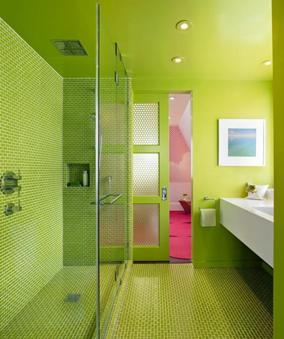 Déco reposante et tendance en vert pour la salle de bain | Design Feria