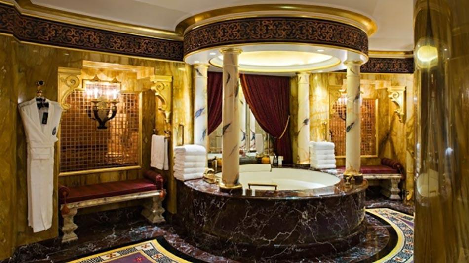 marbre et luxe pour cette salle de bain orientale - Modele Salle De Bain Orientale