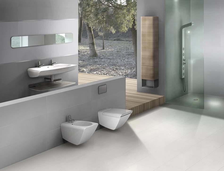 Salle de bain contemporaine l allure l gante et zen par - Modeles salles de bains modernes ...
