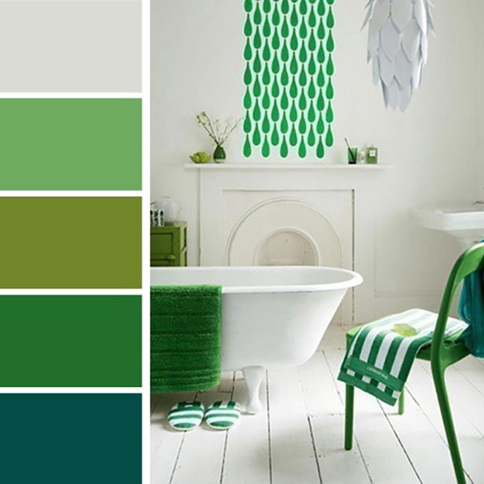 Palettes de couleurs afin de choisir les bonnes nuances for Salle de bain vert kaki