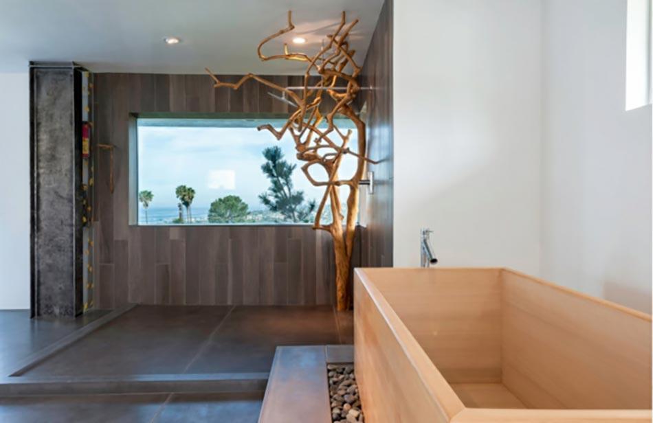 Une d co zen pour une salle de bains minimaliste design - Salle de bain zen bois ...