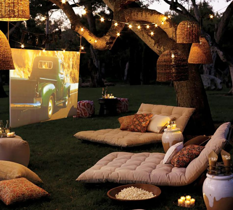 outdoor ciné ambiance