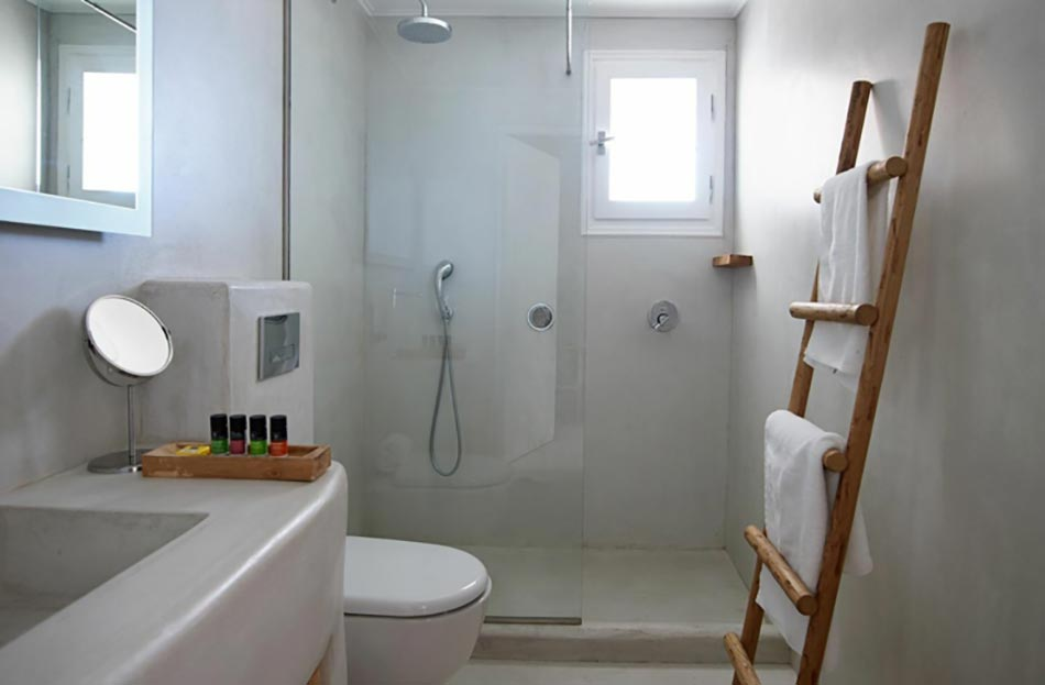 h tel spa art un conte en blanc dans le complexe rocabella mykonos design feria. Black Bedroom Furniture Sets. Home Design Ideas