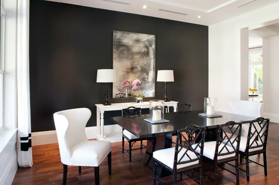 salle a manger peinte en gris peindre les murs intrieurs dans des couleurs sombres design - Salle A Manger Peinte En Gris