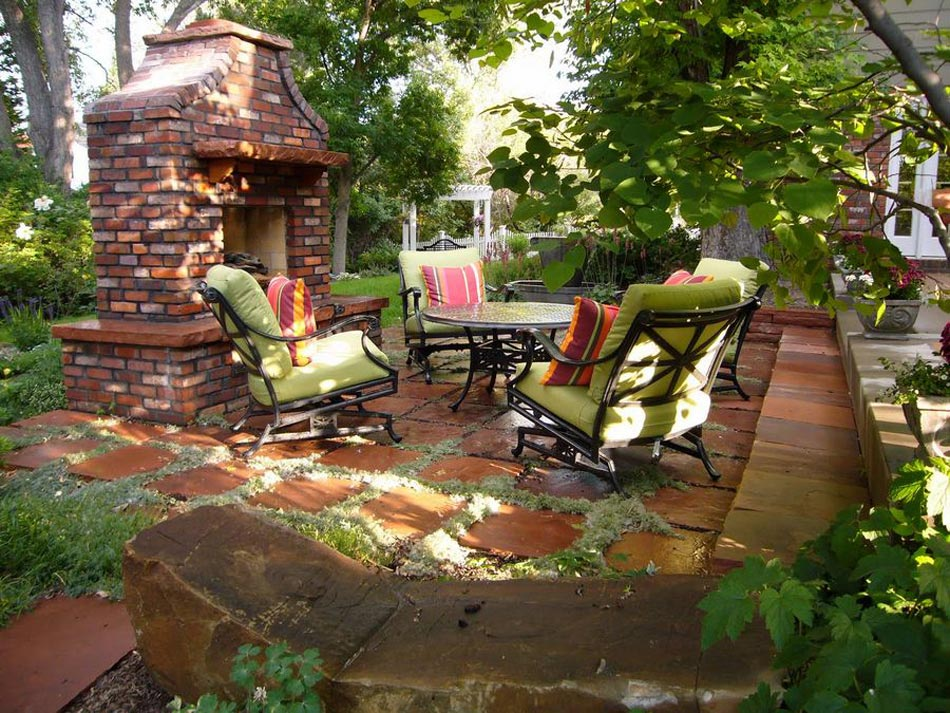 Mobilier Jardin Zen  Un salon de jardin sympa pour une ambiance
