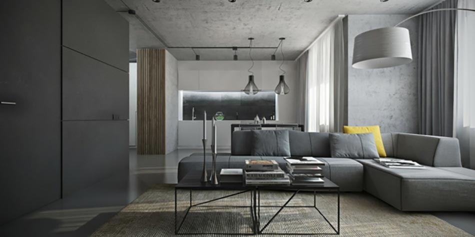 50 nuances de gris pour une maison design design feria for Deco salon contemporain gris