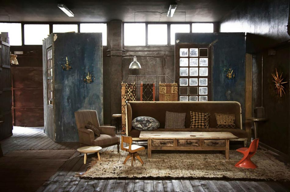 loft industriel l int rieur clectique au centre de madrid design feria. Black Bedroom Furniture Sets. Home Design Ideas