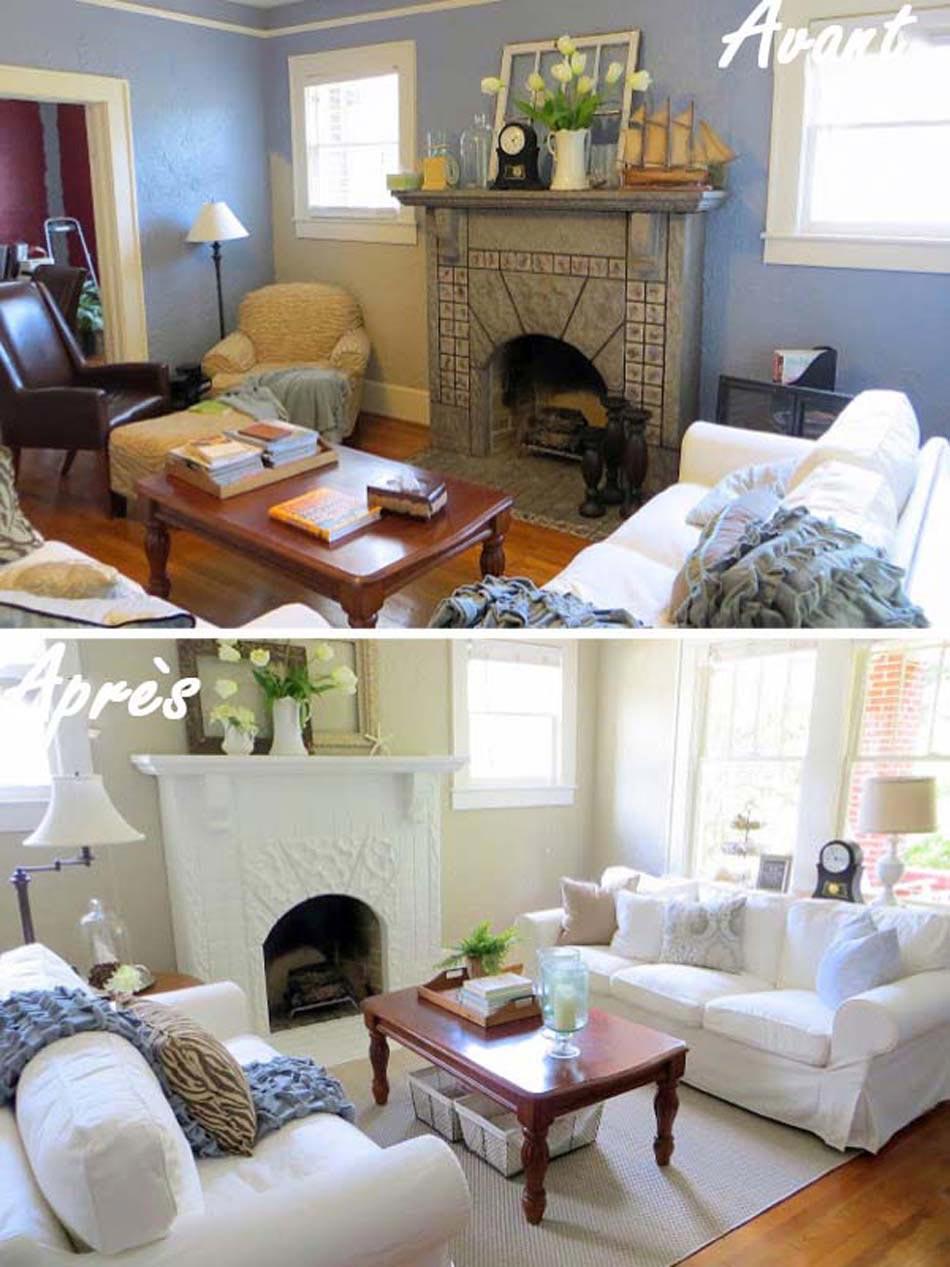 Séjour rénovée modernisé relooking maison