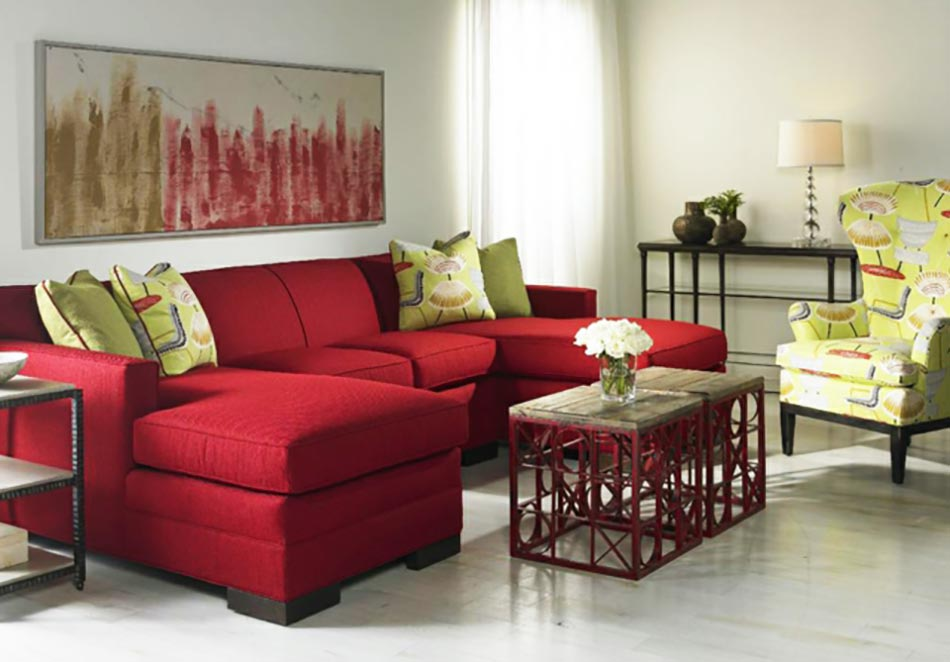 beautiful salon moderne enrouge images awesome interior home satellite. Black Bedroom Furniture Sets. Home Design Ideas