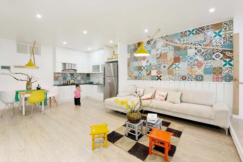 Une d co salon de toute fraicheur aux touches printani res for Deco studio moderne