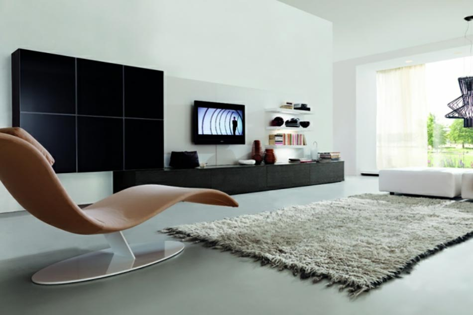 un design italien pour un s jour contemporain l gant design feria. Black Bedroom Furniture Sets. Home Design Ideas