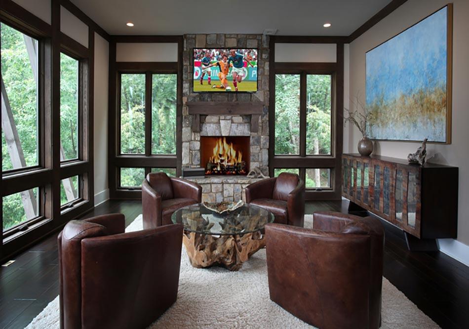 table basse en bois au design rustique et original pour un. Black Bedroom Furniture Sets. Home Design Ideas