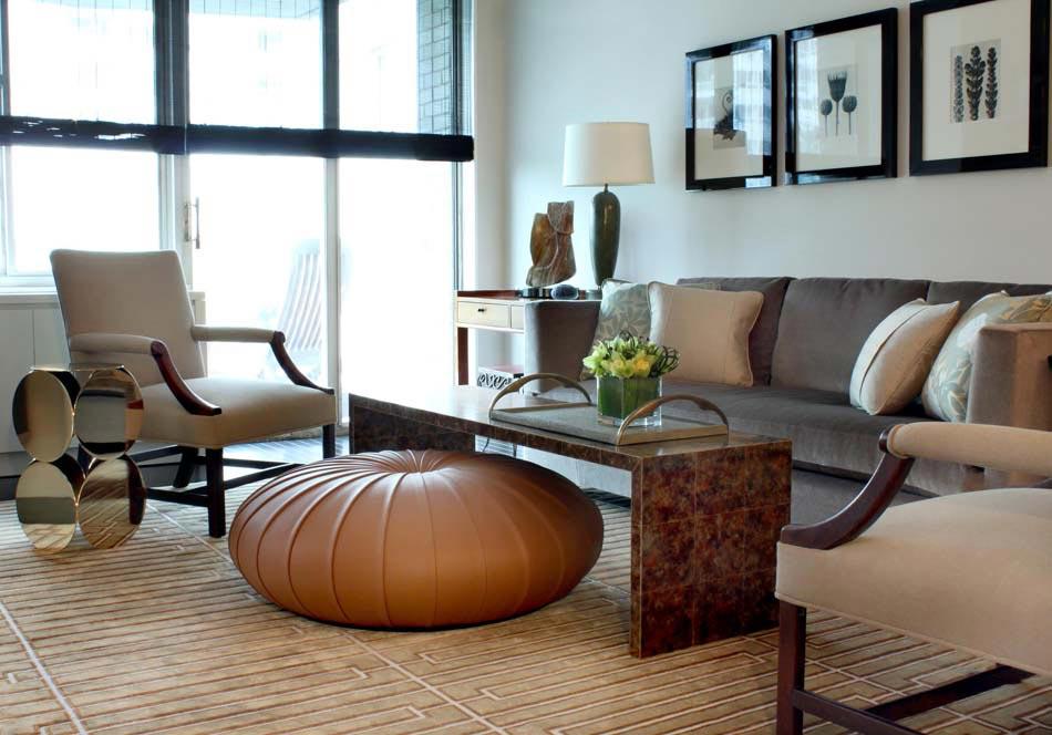 le pouf rond apportant un c t accueillant et convivial la d co int rieure design feria. Black Bedroom Furniture Sets. Home Design Ideas