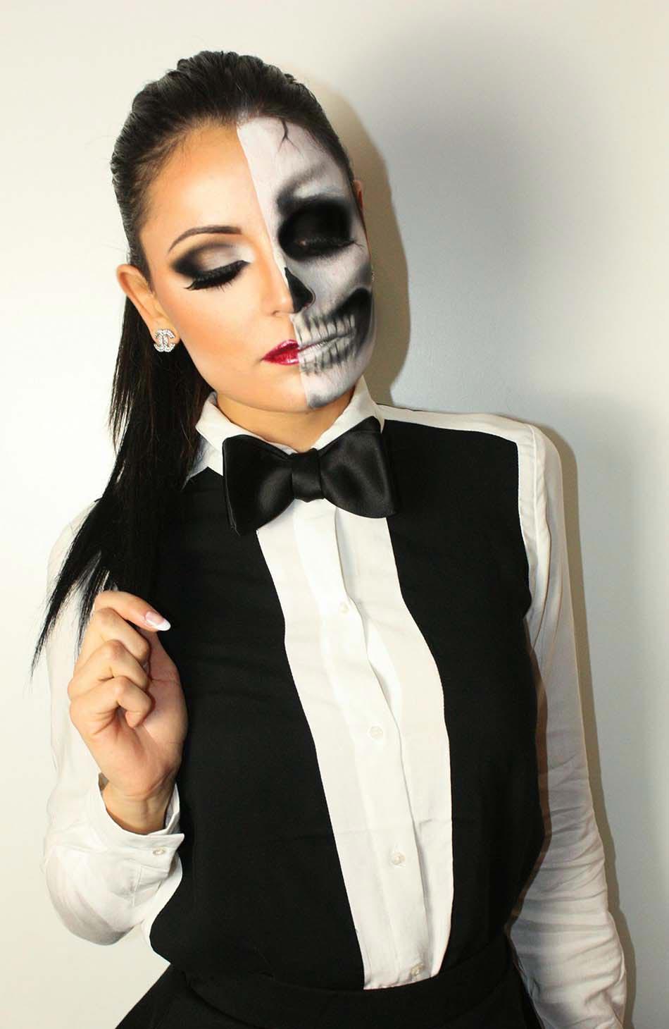 15 id es de maquillage halloween myst re horreur ou gore design feria. Black Bedroom Furniture Sets. Home Design Ideas