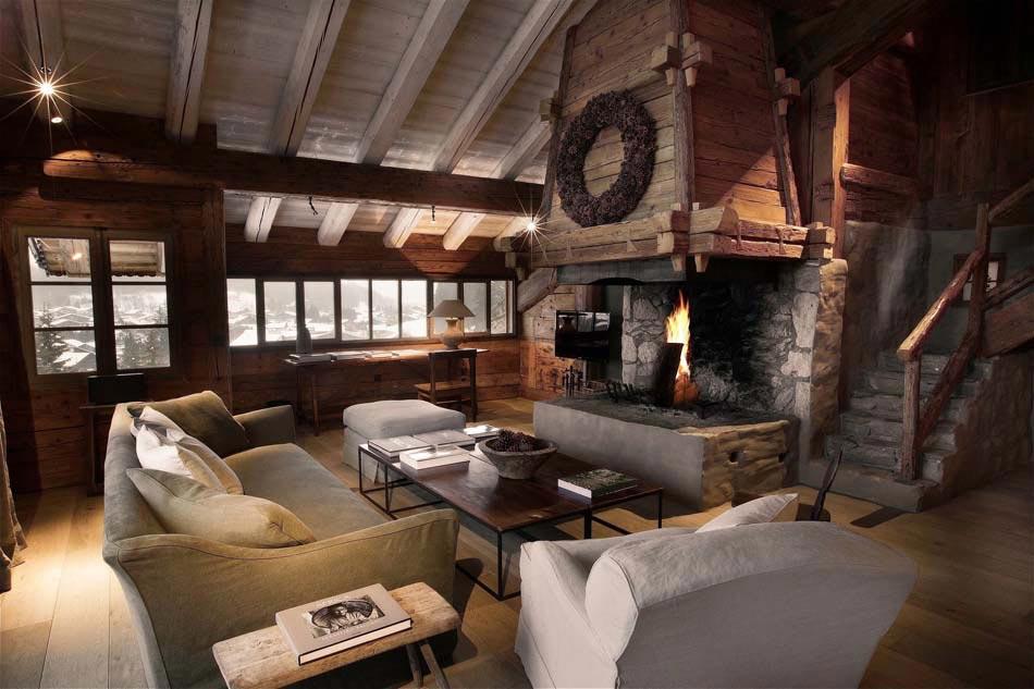 Zannier chalet en bois promettant des vacances exceptionnelles au c ur des alpes design feria - Interieur chalet berg foto ...
