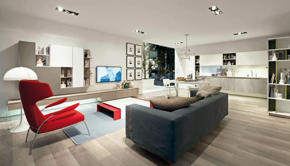 Un design italien pour un s jour contemporain l gant for Sejour salon moderne