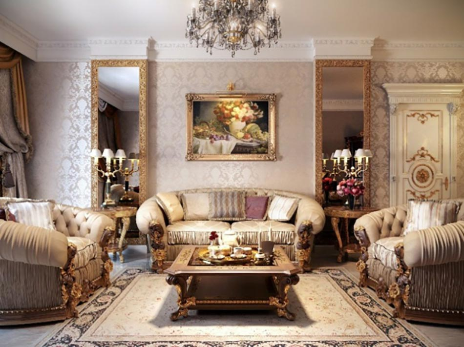 salon meubles au design classique séjour officiel