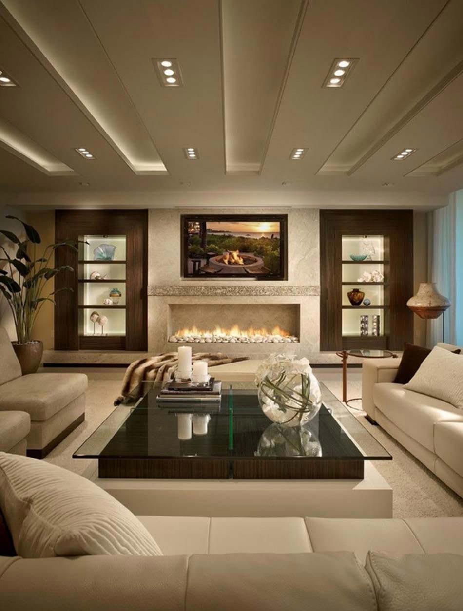 Idée De Cheminée Moderne ameublement design : télé fixée au-dessus d'une cheminée