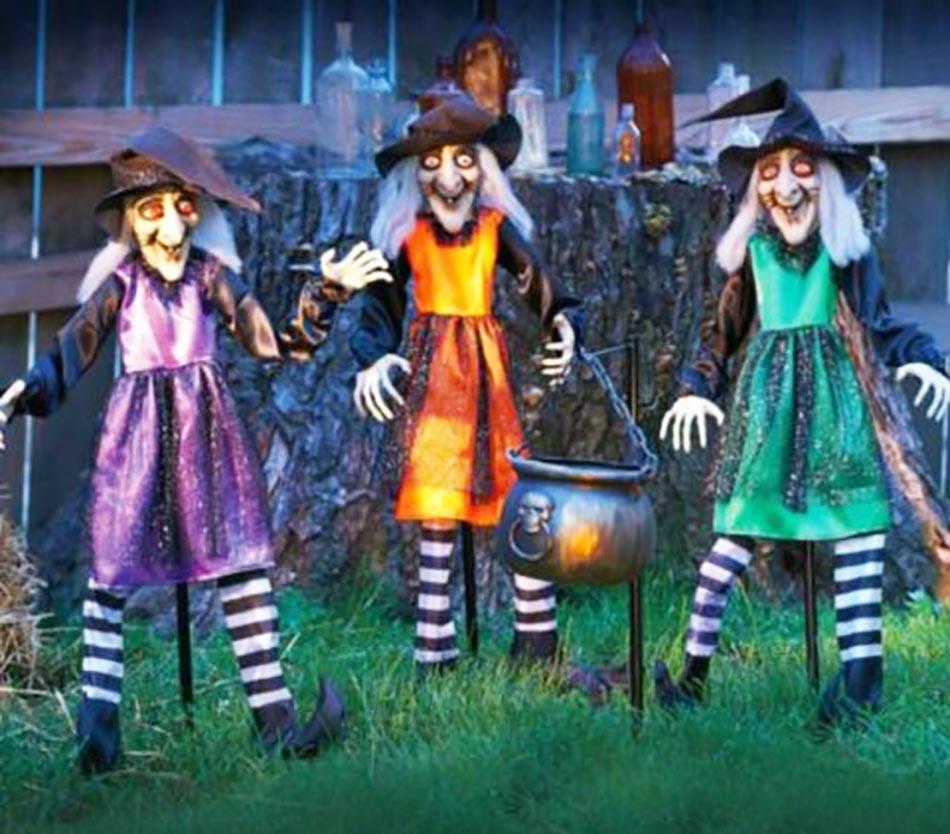 Sorcières décoration halloween jardin maison outdoor