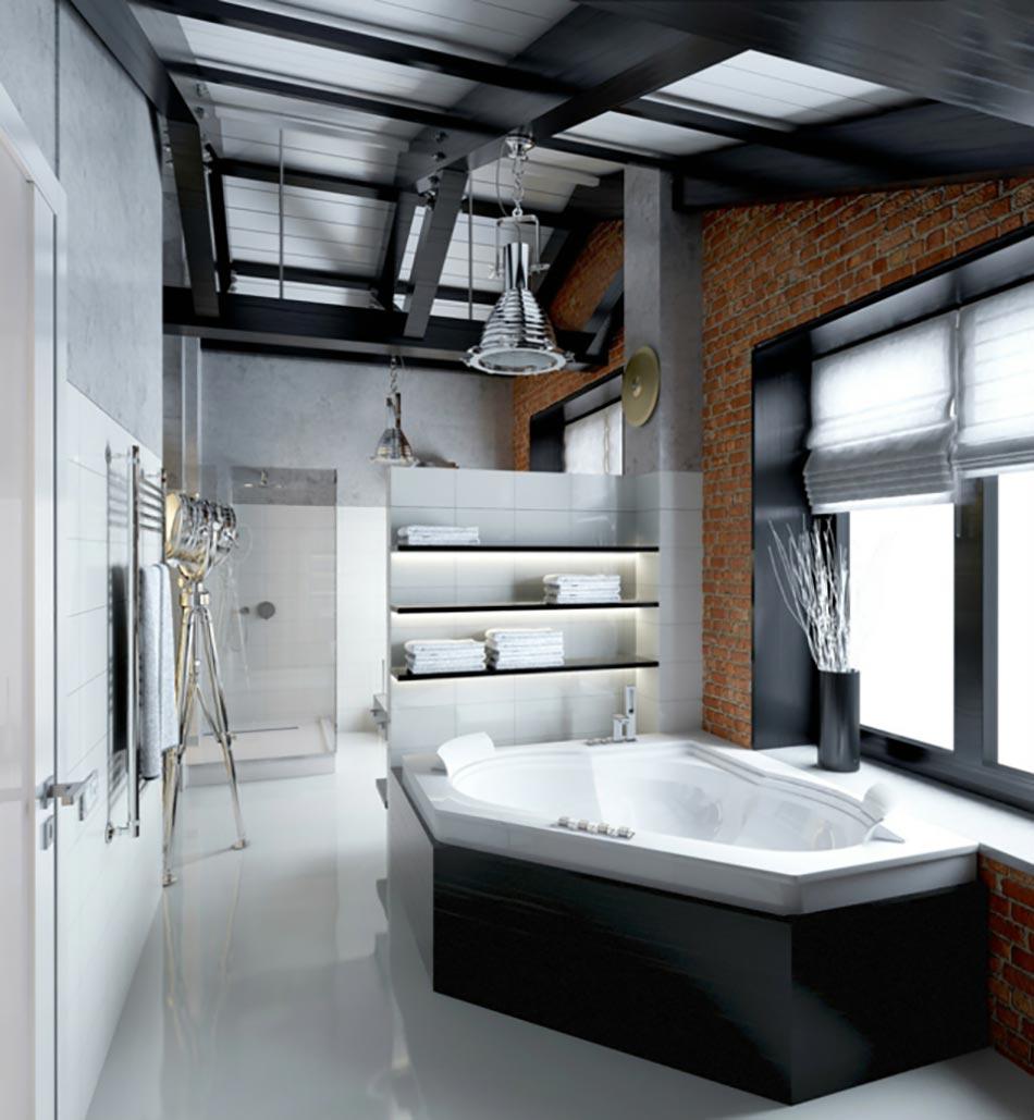 Salle de bain de luxe chic et originale design feria - Salle de bain style industriel ...