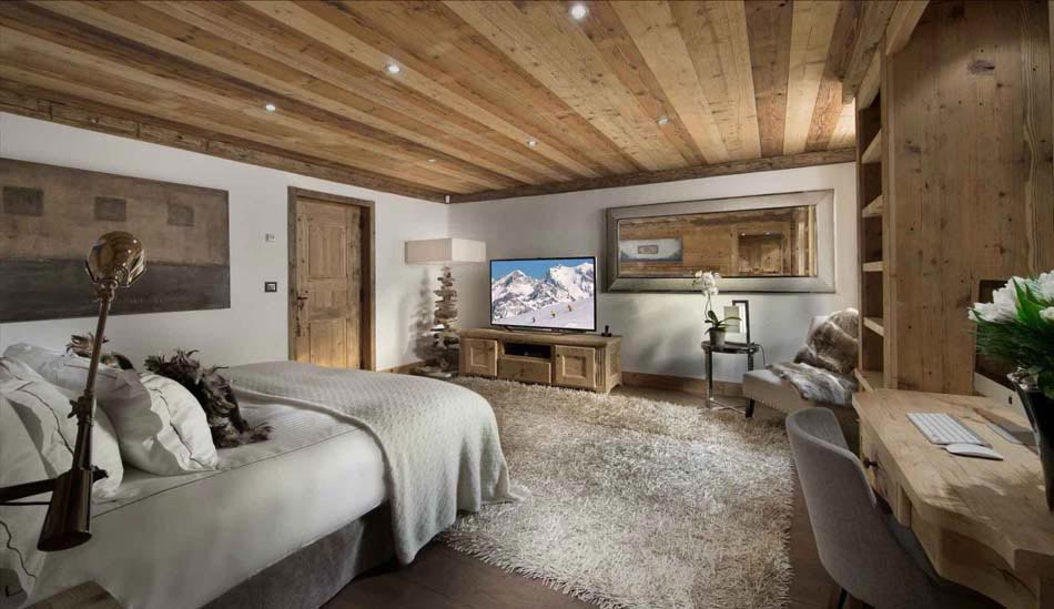 Chalet de luxe m ribel pour des vacances d hiver inoubliables design feria for Chalet design contemporain
