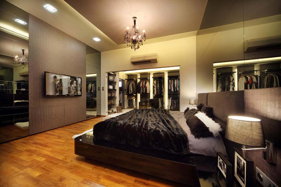 D co chambre coucher au design cr atif l gant et for Decoration interieur chambre adulte moderne