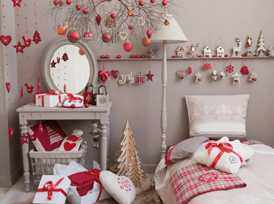 decoration de noel interieur rouge et blanc. Black Bedroom Furniture Sets. Home Design Ideas