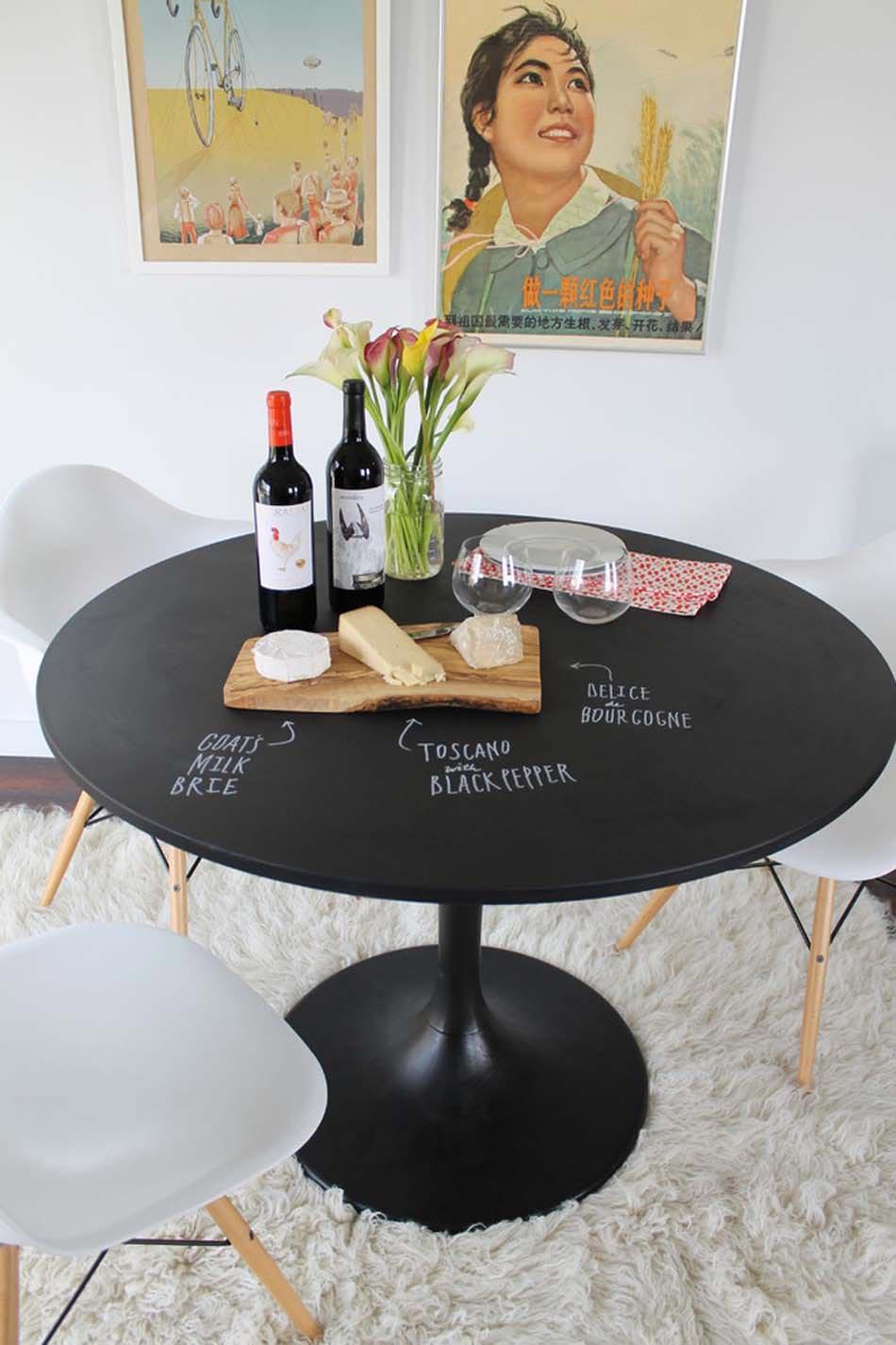 Tableau Noir Deco Pour Cuisine le tableau noir – une idée de déco cuisine créative et