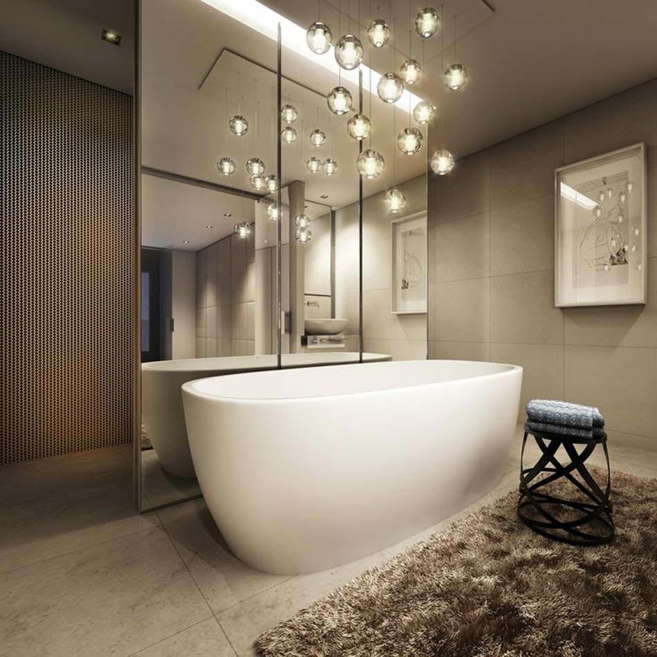 Personnaliser sa salle de bain design avec un look for Suspension pour salle de bain
