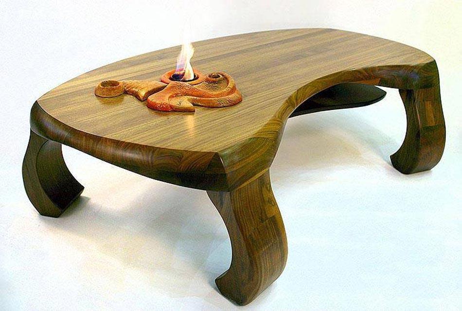 table basse bois forme originale. Black Bedroom Furniture Sets. Home Design Ideas