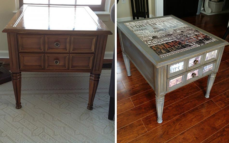 Inspiration d co pour redonner vie un vieux meuble - Table basse repeinte ...