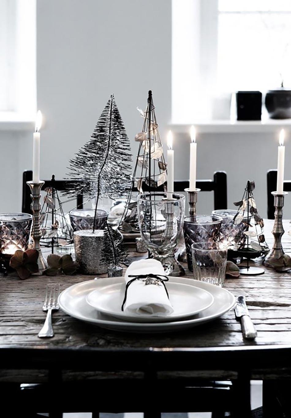 Table de noel pour merveiller les convives design feria - Table de noel chic ...